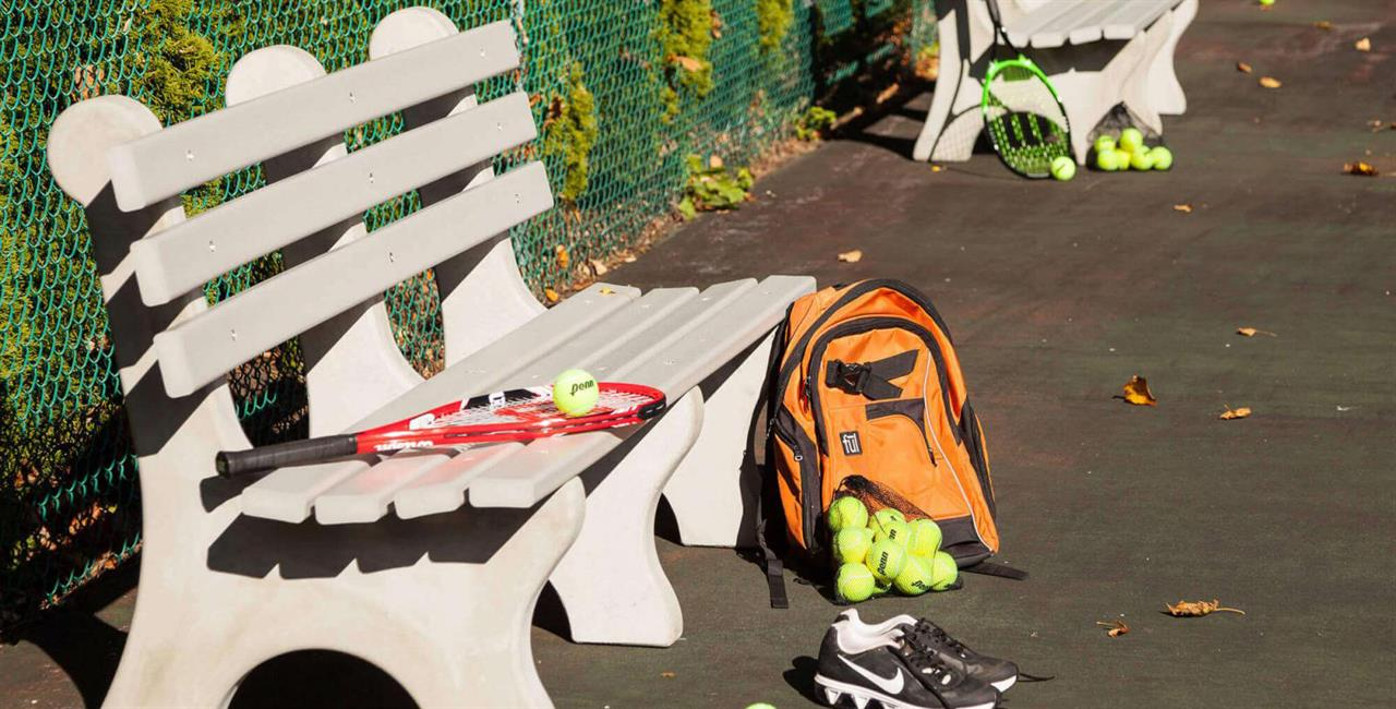 PolyFurnitureTennisCourtBench