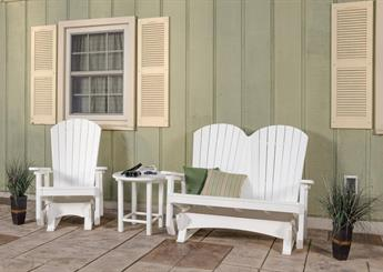Adirondack Double Glider Chairs for Patio