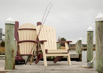Adirondack Folding Chairs on dock