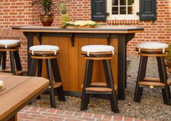 Bar with Swivel Stools