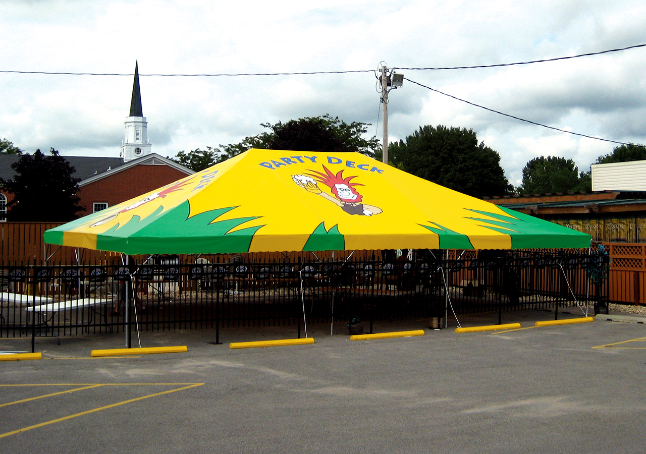 Festive Frame Tent & Shade for Hotels Aquatic Centers and Parks | Waterloo Tent