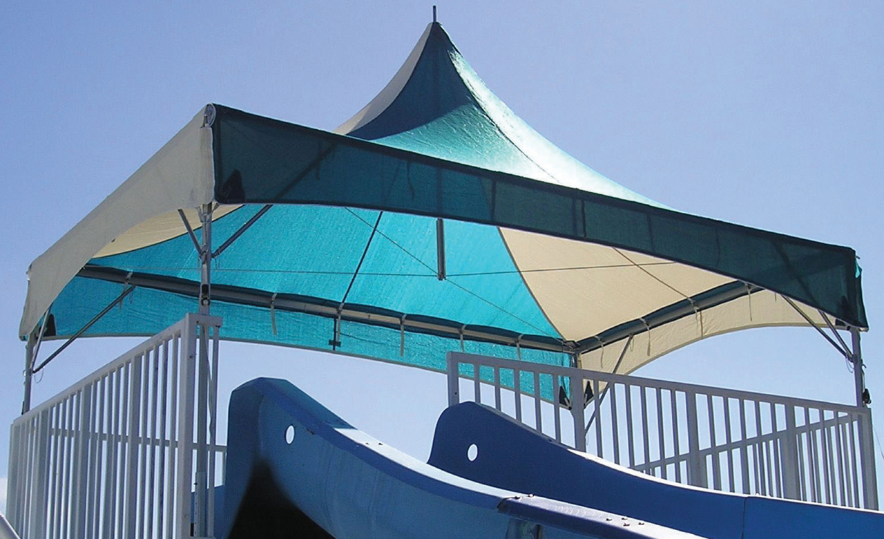 Slide Canopies & Shade for Hotels Aquatic Centers and Parks | Waterloo Tent