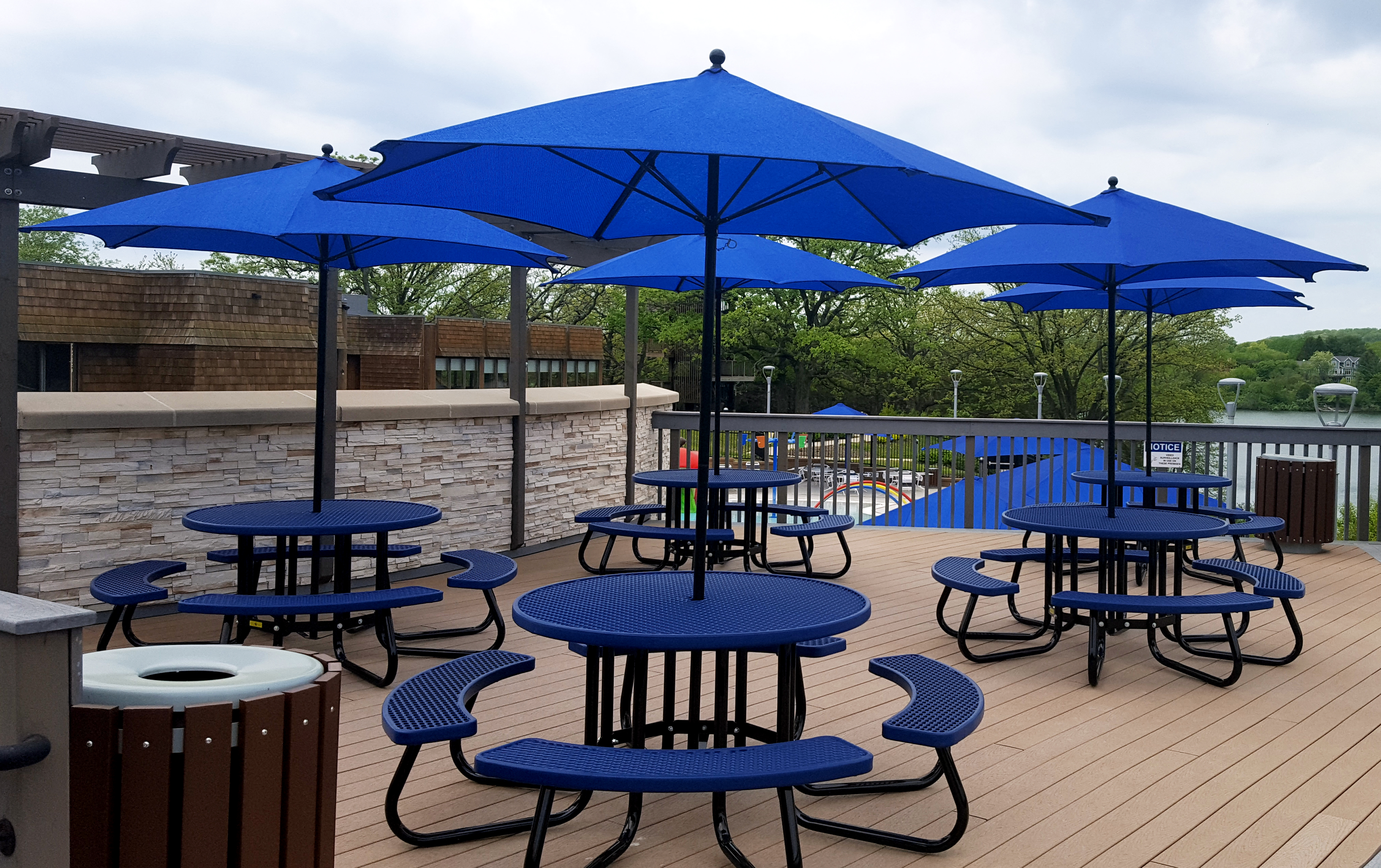 Tables with Umbrellas